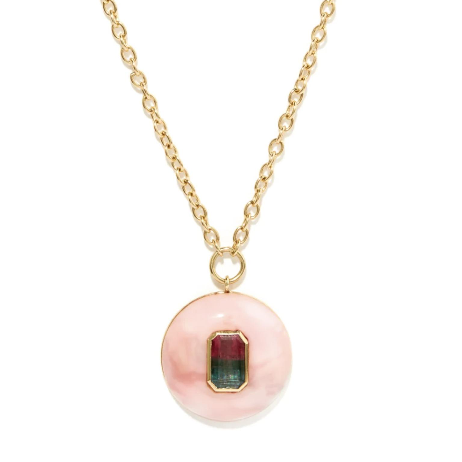 RETROUVAI Lollipop tourmaline, opal & 14kt gold necklace  £3,678
