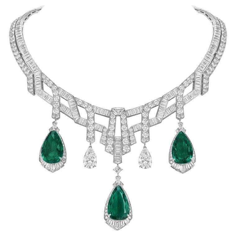 Van Cleef & Arpels Merveilles d'émeraudes necklace 3 emeralds