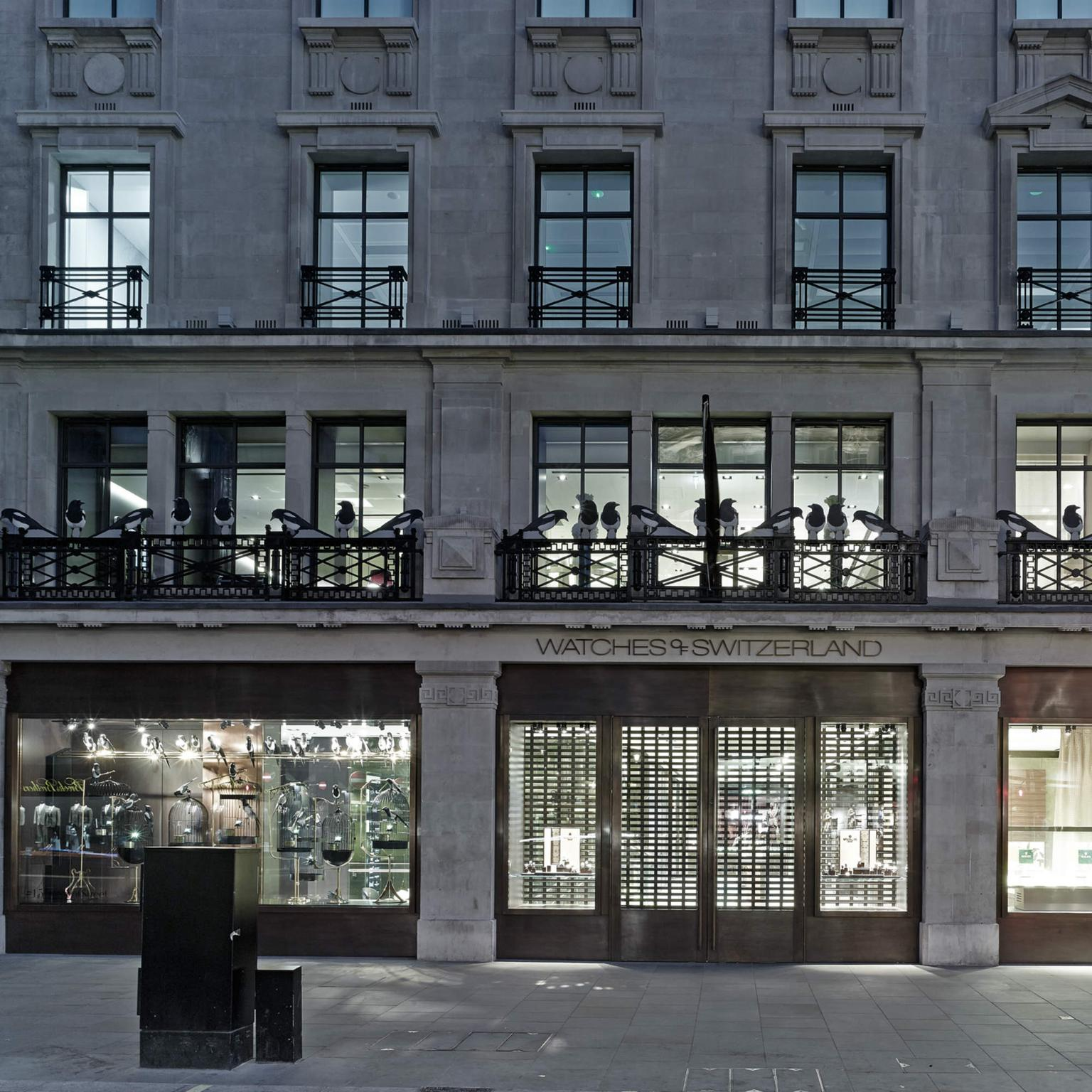 Watches of Switzerland flagship on Regent Street in London