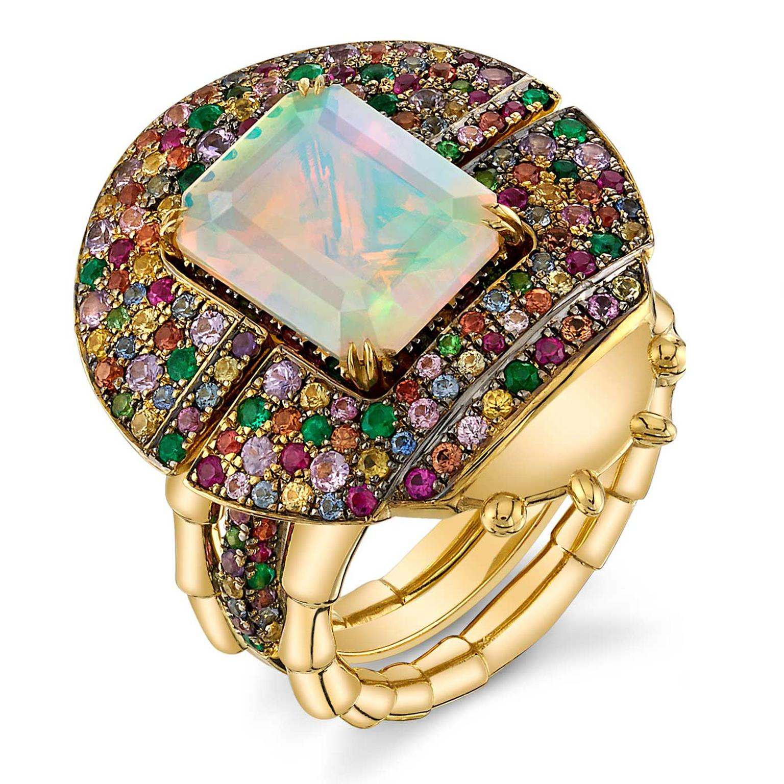 Daniela Villegas adaptable ring with opal