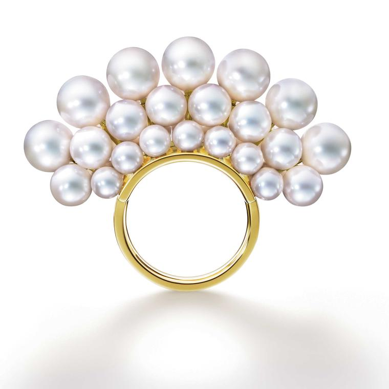 M/G TASAKI  Pyramid Pearls ring