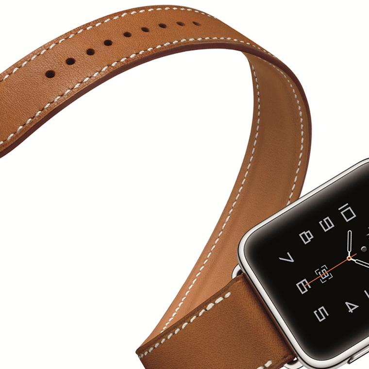 Apple Hermes watch Barenia single strap crop