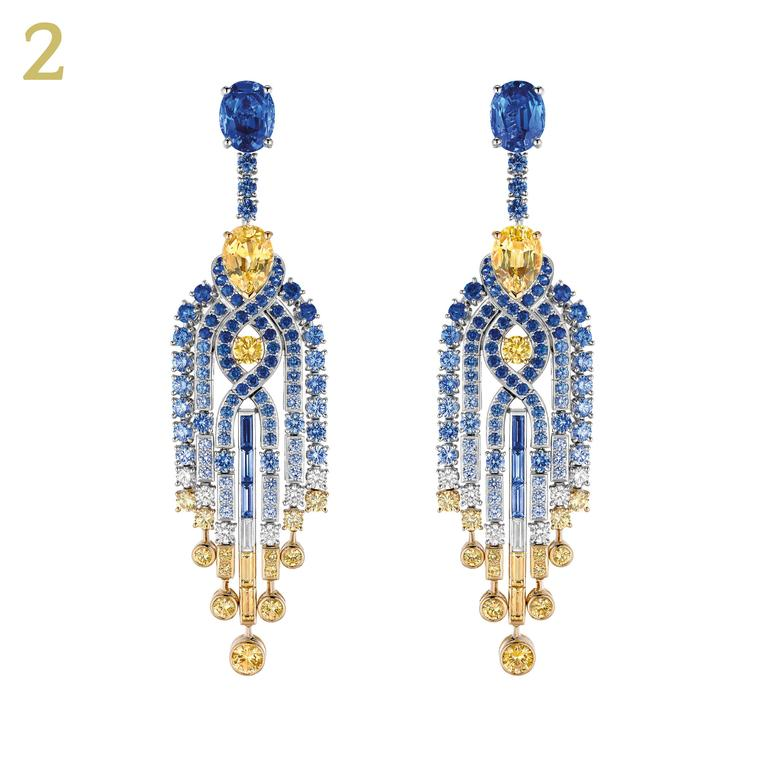 Chaumet Lumbers dEau sapphire diamond earrings