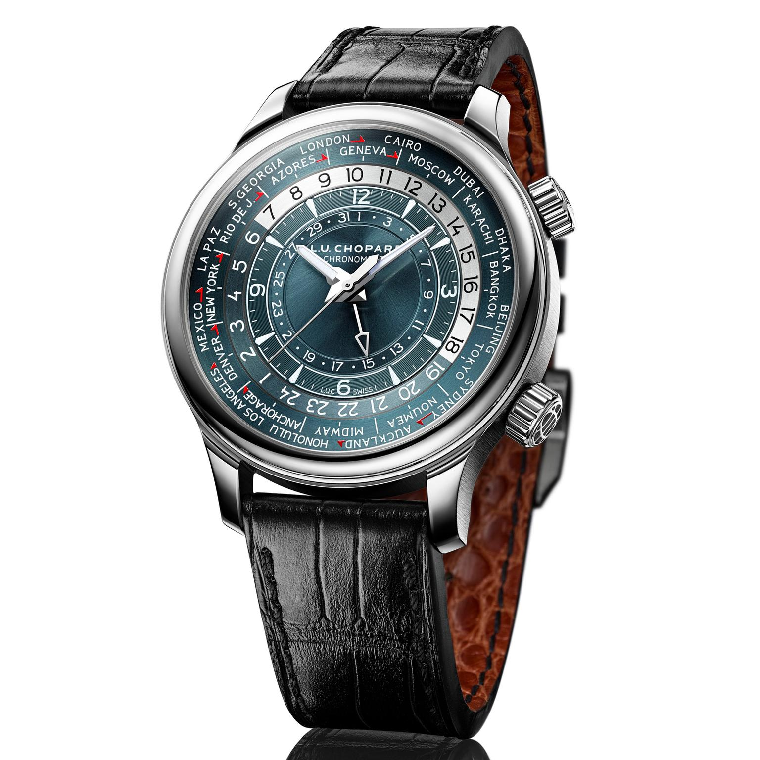 Chopard L.U.C Time Traveler One watch in platinum