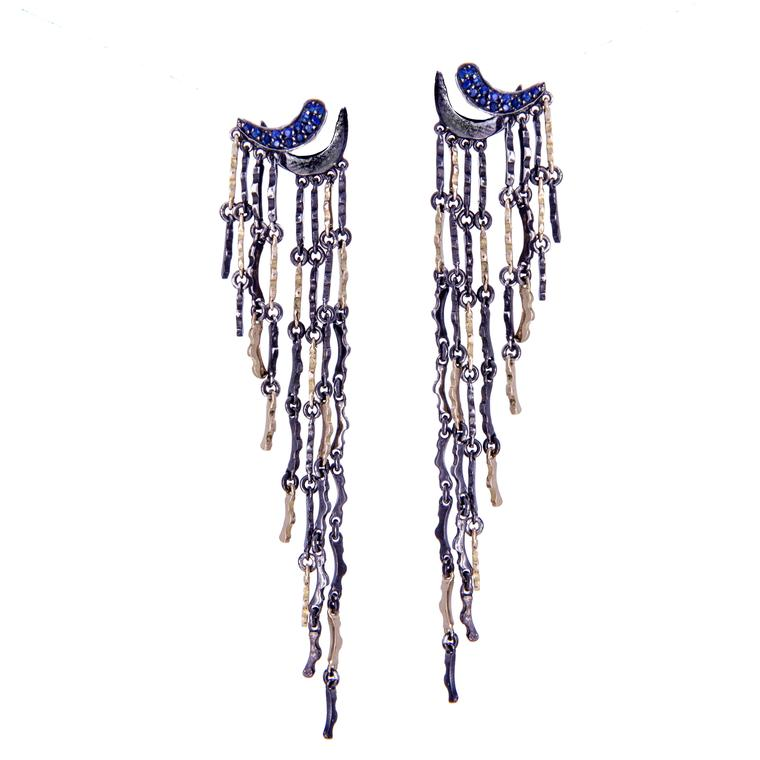 Gaelle Khouri blue sapphire Thoughtfalls earrings