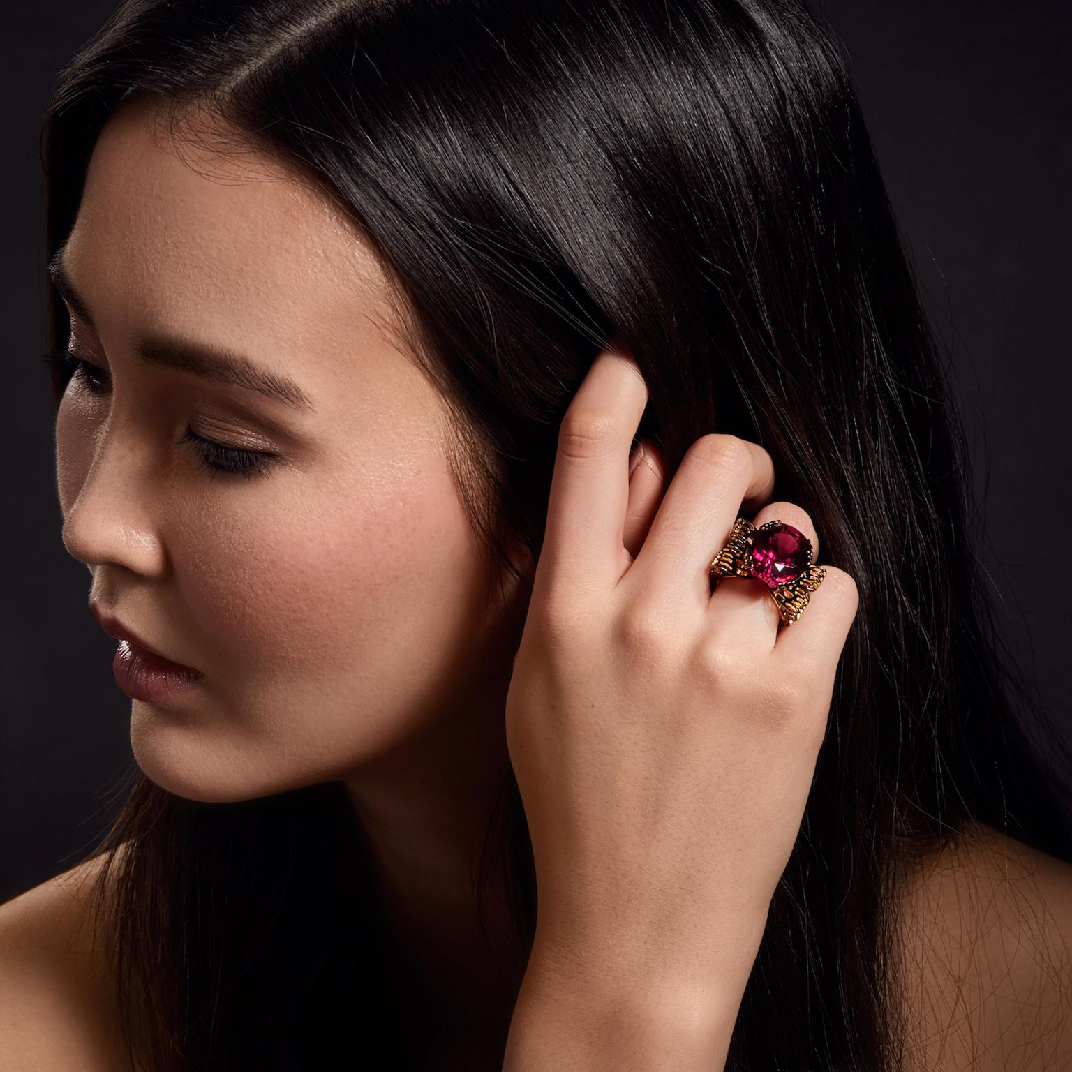 Ming Lampson Butterfly ring on model
