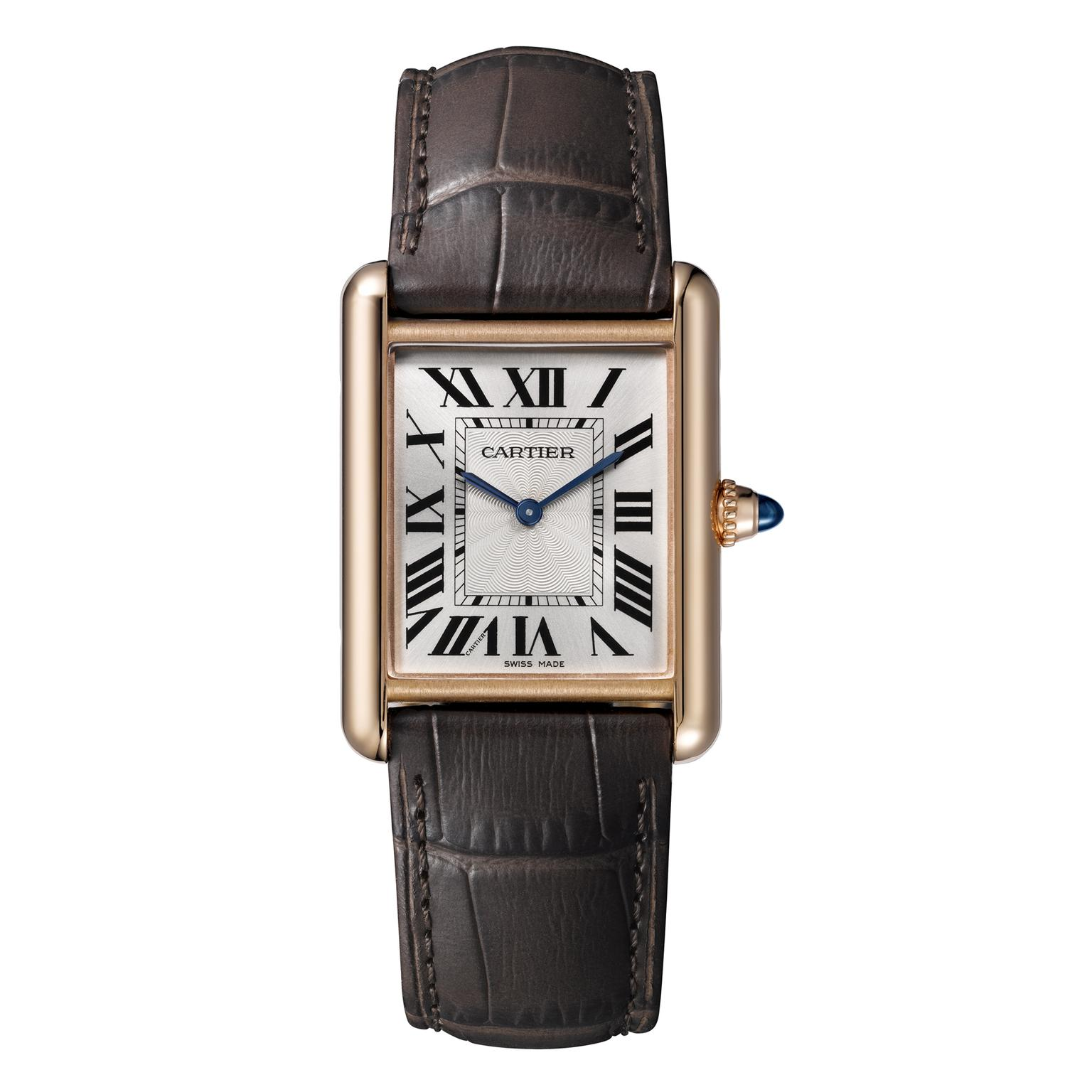 Cartier Tank Louis Cartier large pink gold watch