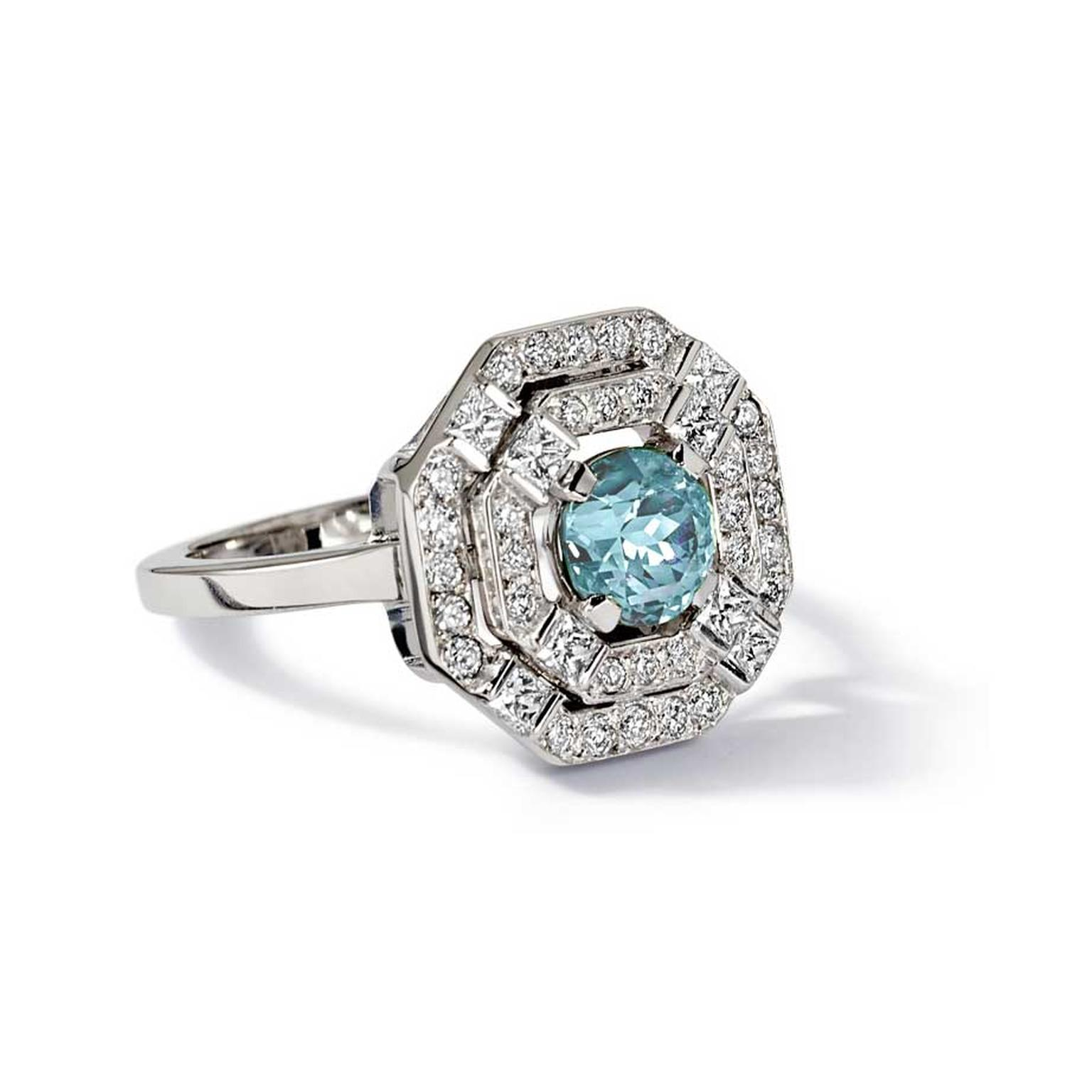 Cassandra Goad Eloise aquamarine engagement ring