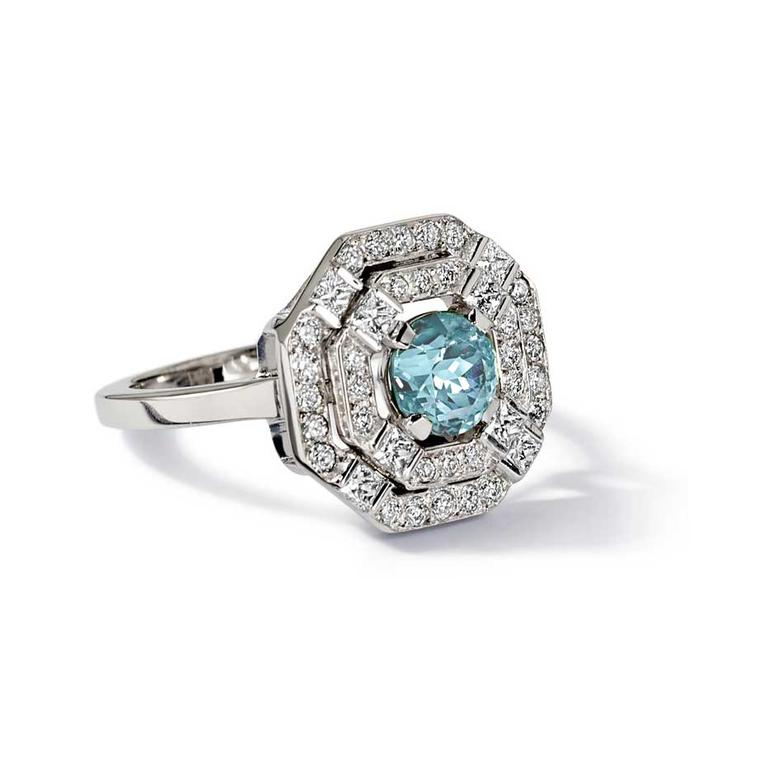 Eloise aquamarine engagement ring