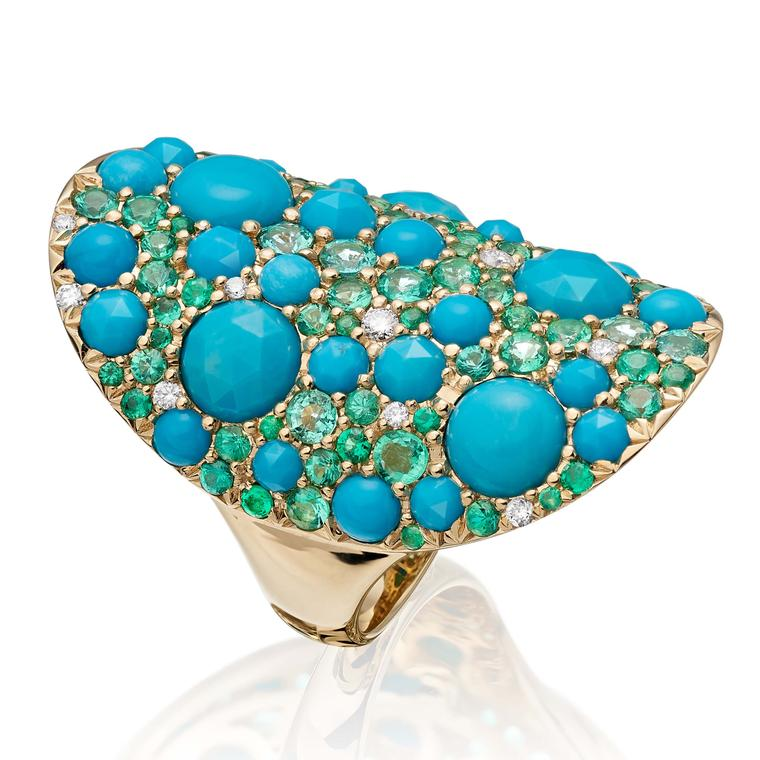 Vault ring with turquoise from Robinson Pelham