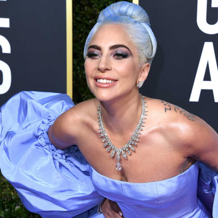 Lady Gaga Tiffany diamond necklace Golden Globes 2019