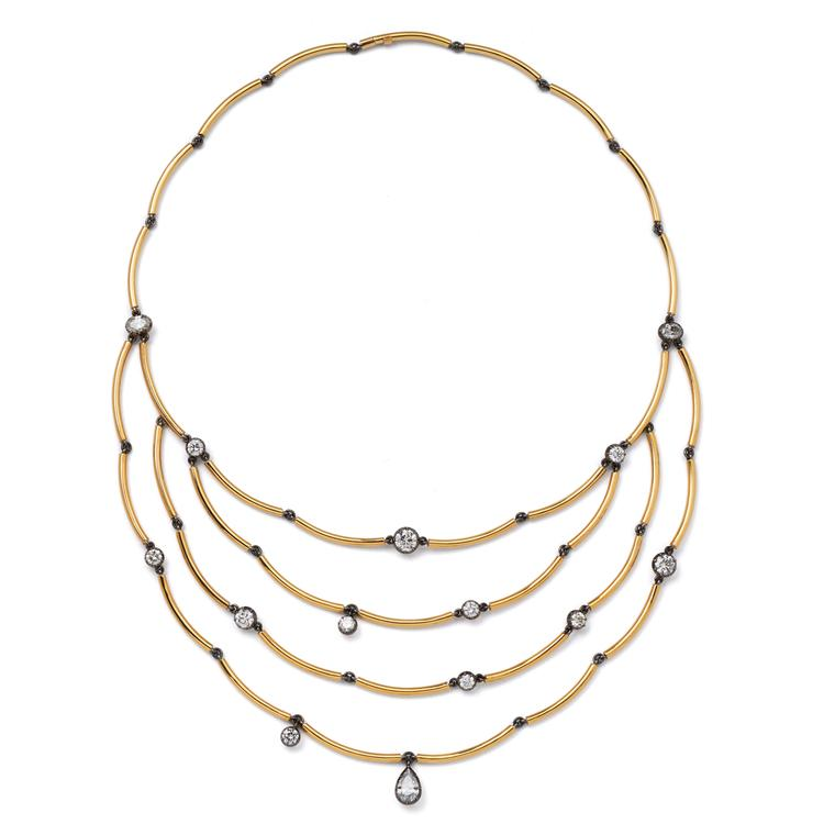 Jessica McCormack Chi Chi gold and diamond necklace
