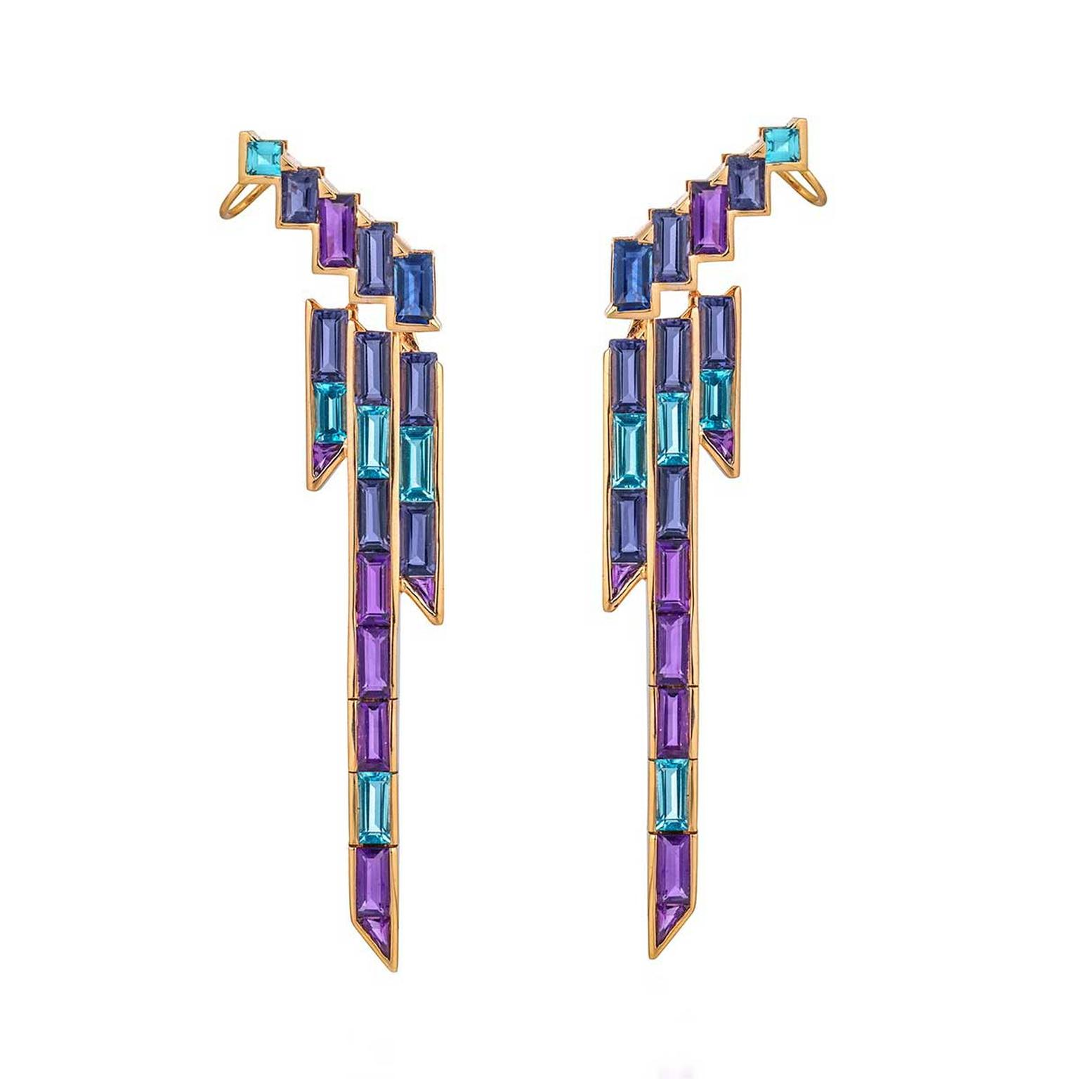 Tomasz Donocik Electric Night earrings