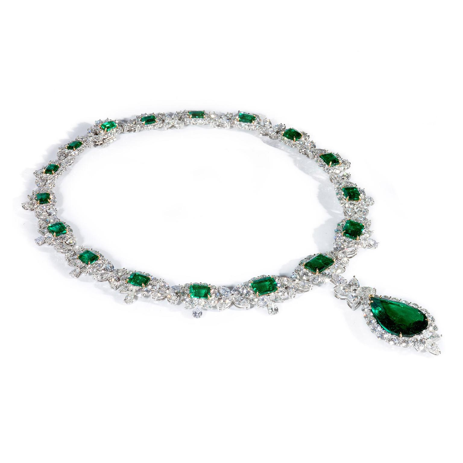Bayco Colombian Emerald and diamond necklace