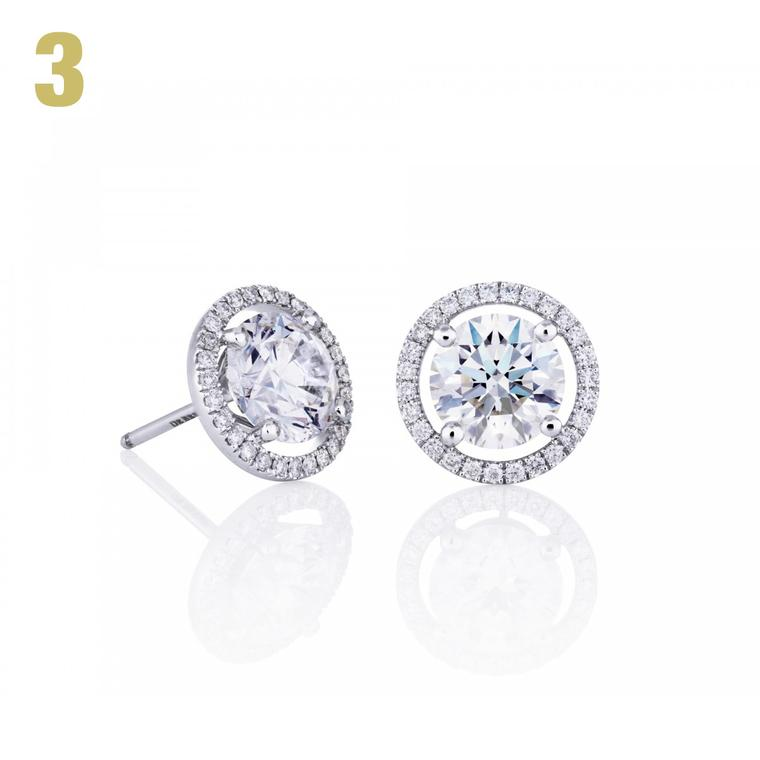 De Beers Aura stud earrings