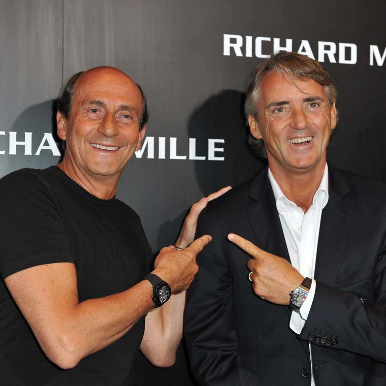 Richard Mille and Roberto Mancini