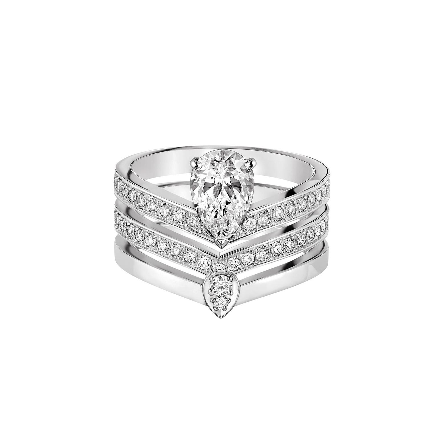 Chaumet Alliance Joséphine Aigrette trio diamond rings
