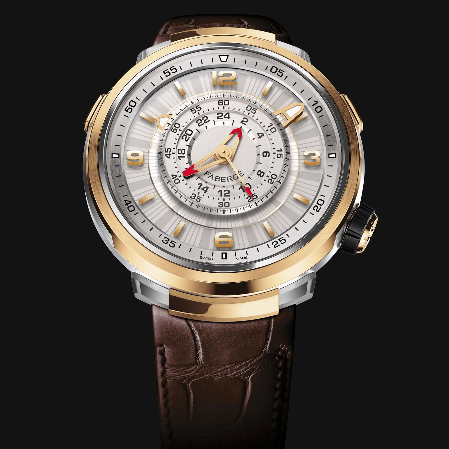 Faberge Visionnaire Chronograph watch in rose gold