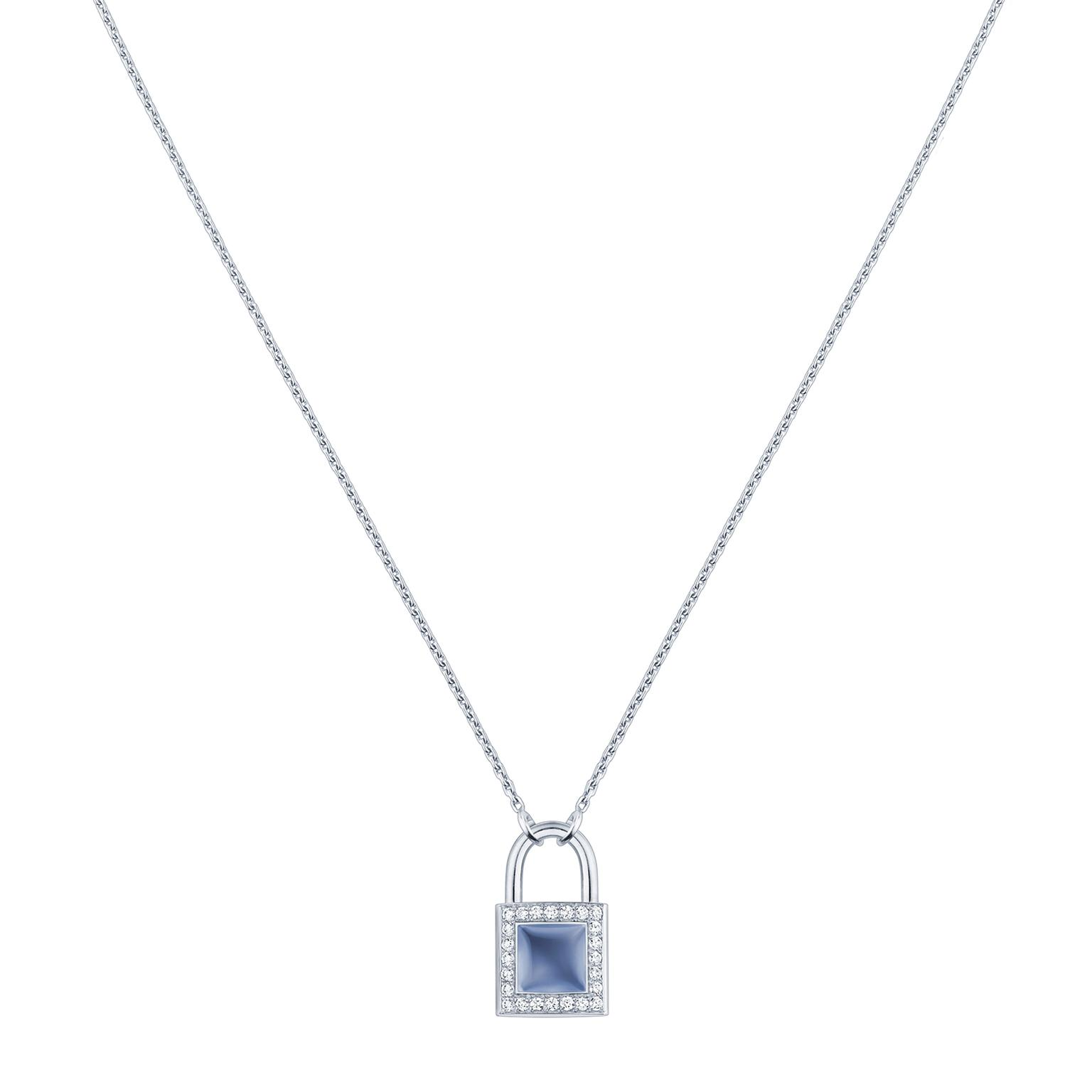 Louis Vuitton Lockit chalcendony pendant