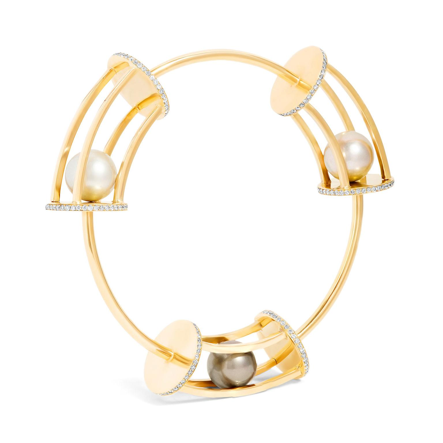 Yael Sonia Spinning Trio bangle