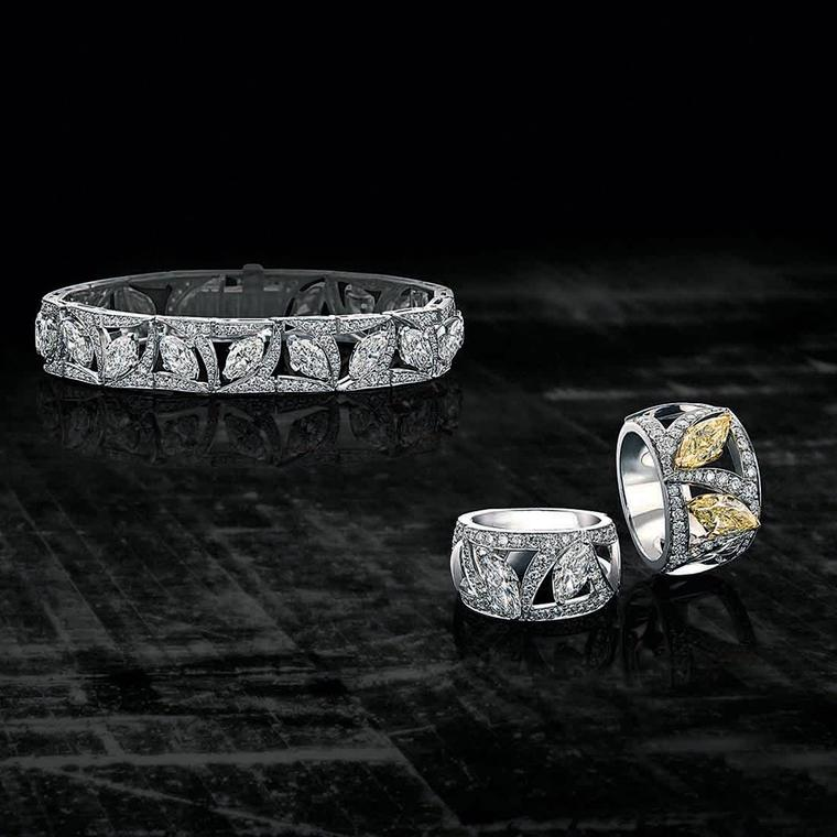 Boodles Pas de Deux Collection diamond bangles and rings