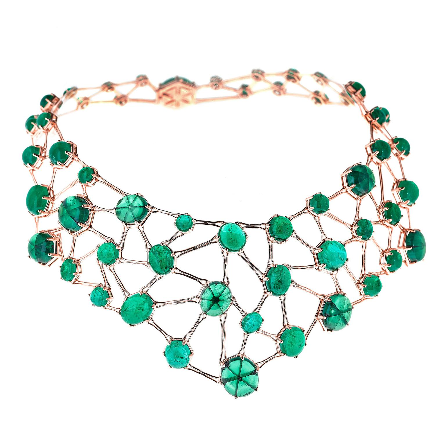 Selim Mouzannar Amal bib with emeralds