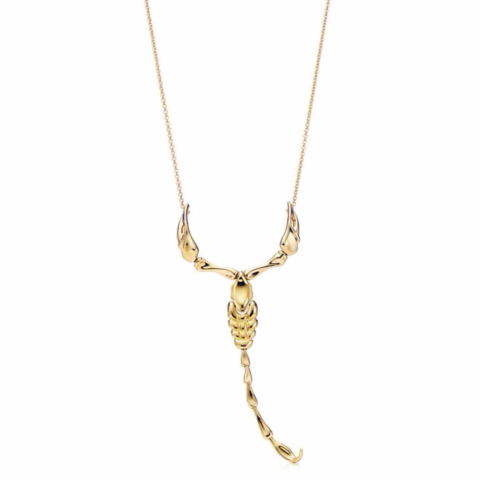 Elsa Peretti Scorpion pendant necklace in yellow gold