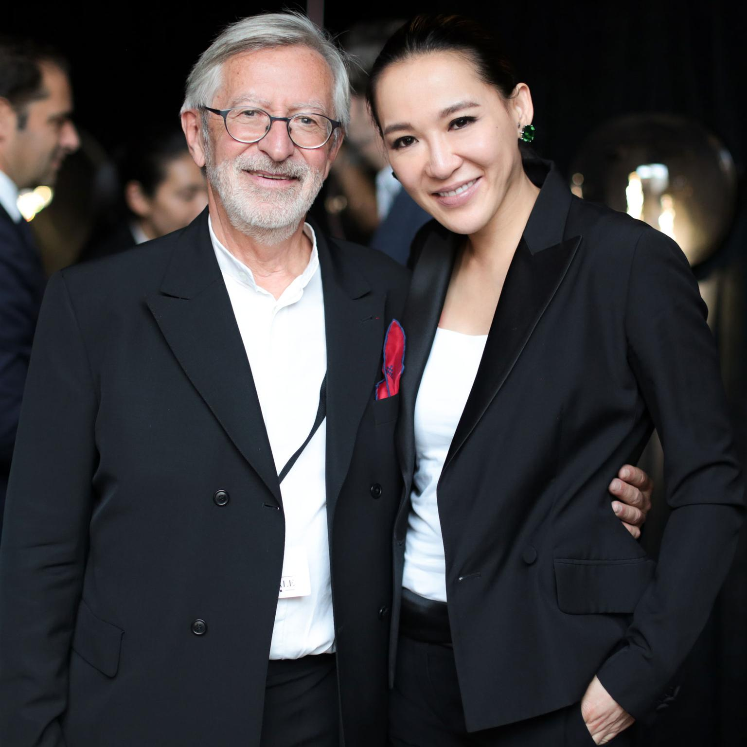 Cindy Chao with Dominique Chevalier