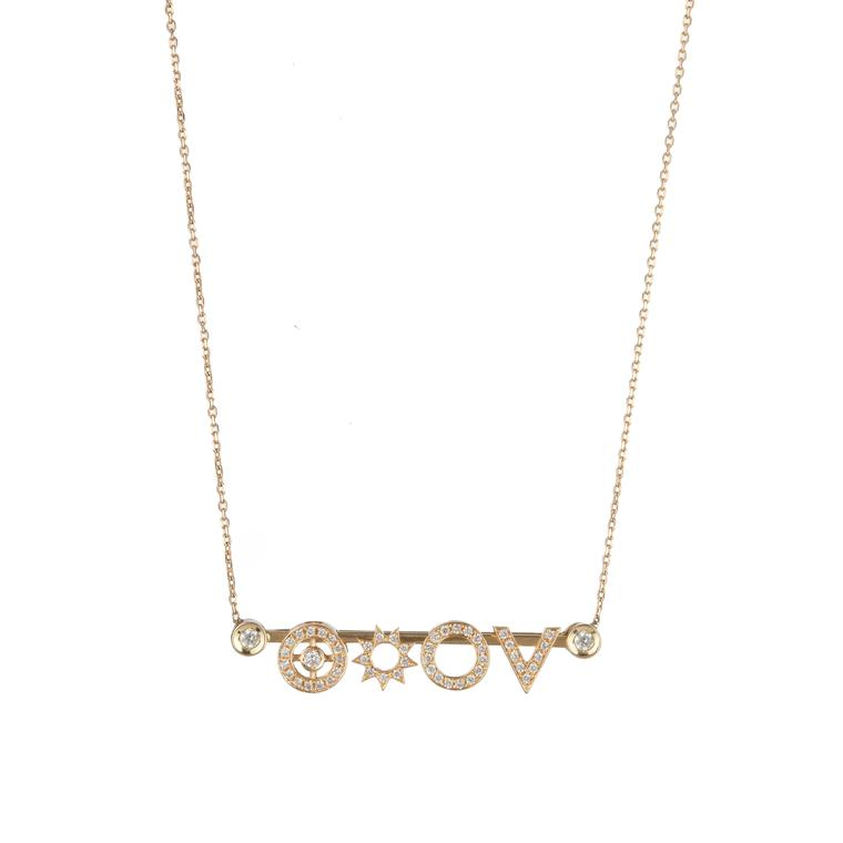 R.Y.M Jewelry Diamond Digit necklace