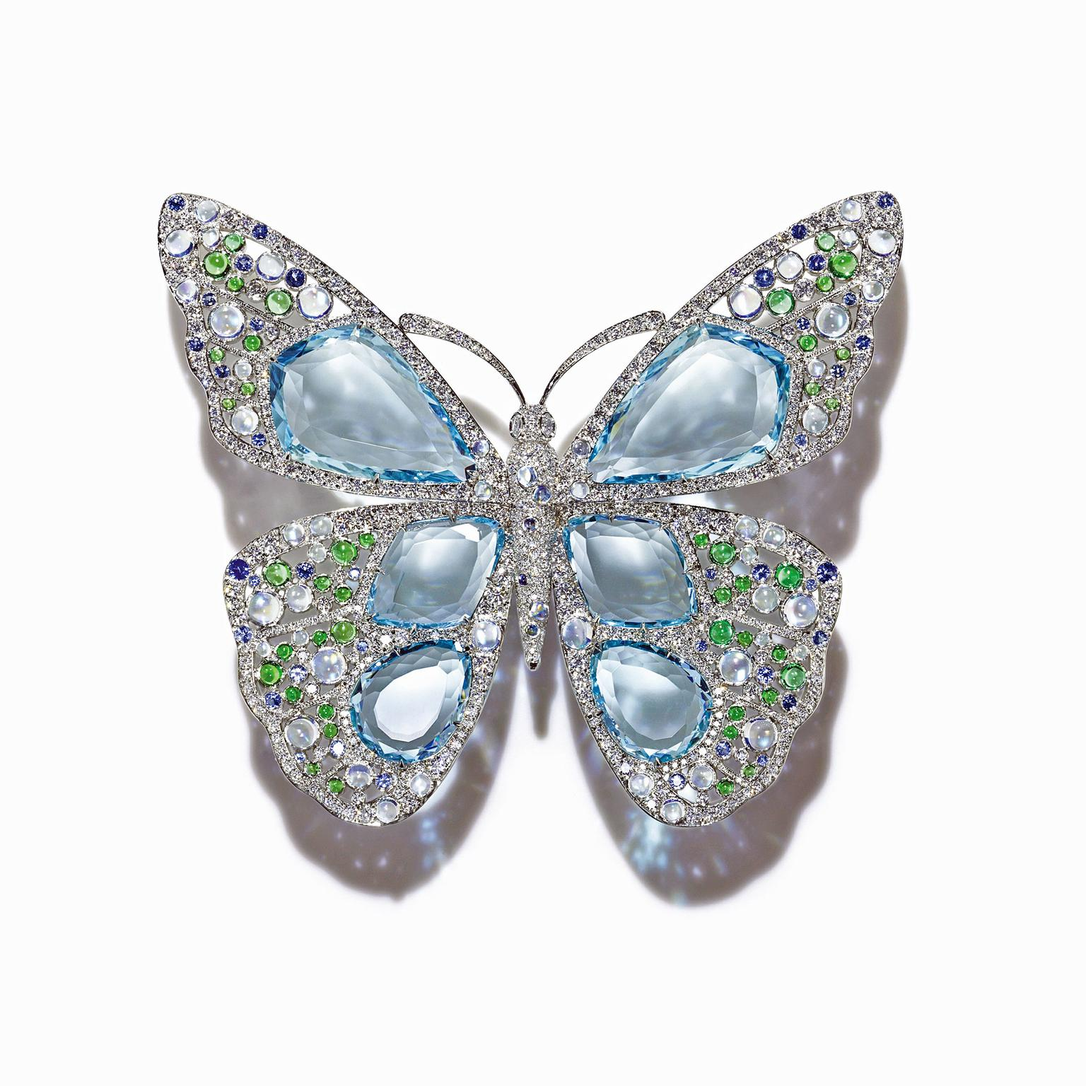 Tiffany Blue Book Butterfly aquamarine brooch