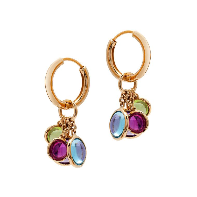 Goshwara multicoloured gemstones earrings
