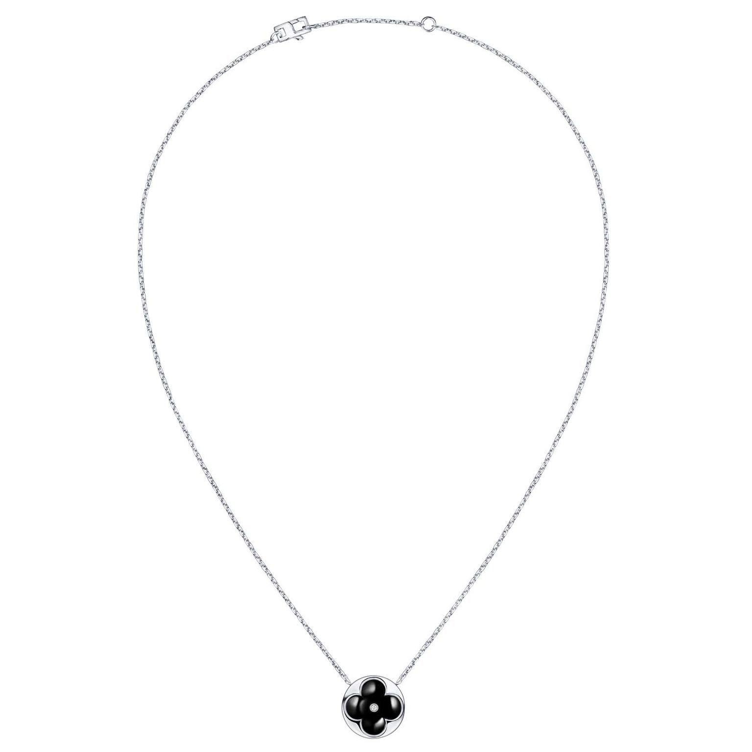Louis Vuitton Onyx Diamond Blossom necklace