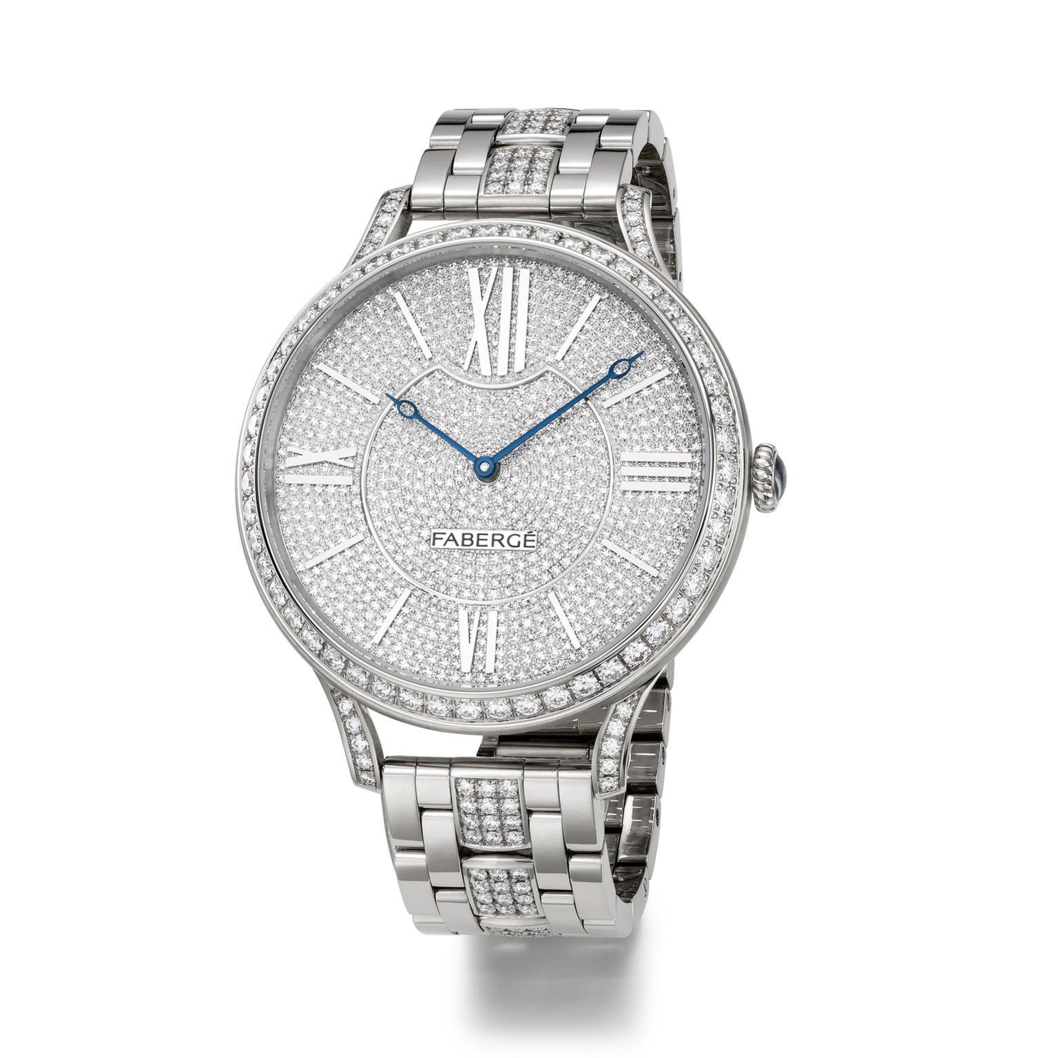 Faberge Lady Faberge 39mm white gold diamond watch