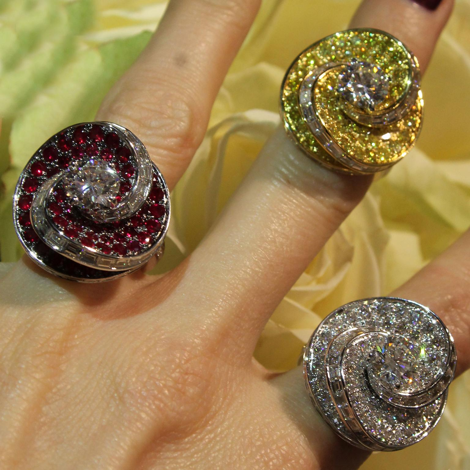 Graff Helter Skelter rings