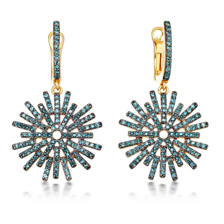 Astley Clarke Firework blue diamond earrings