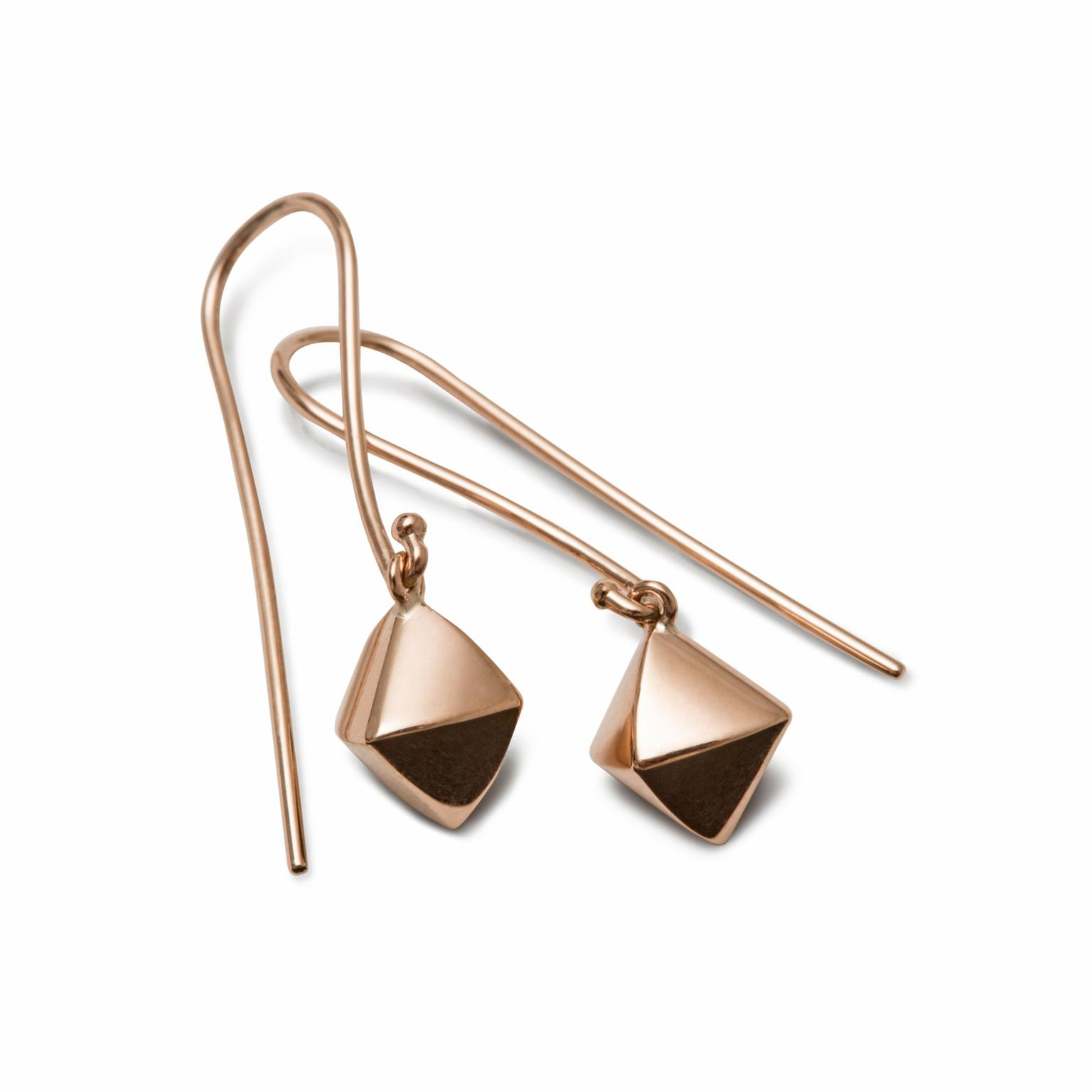 Nana Fink Adorée red gold geometric earrings