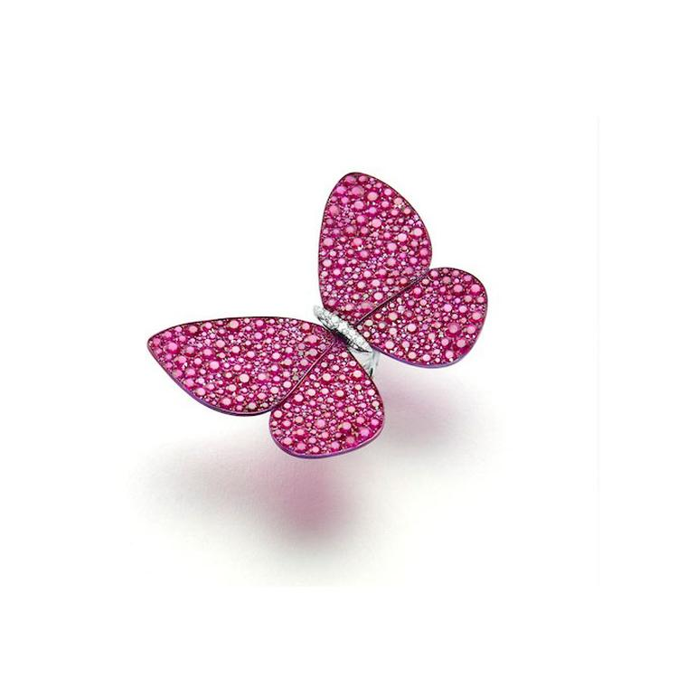 Glenn Spiro ruby butterfly ring