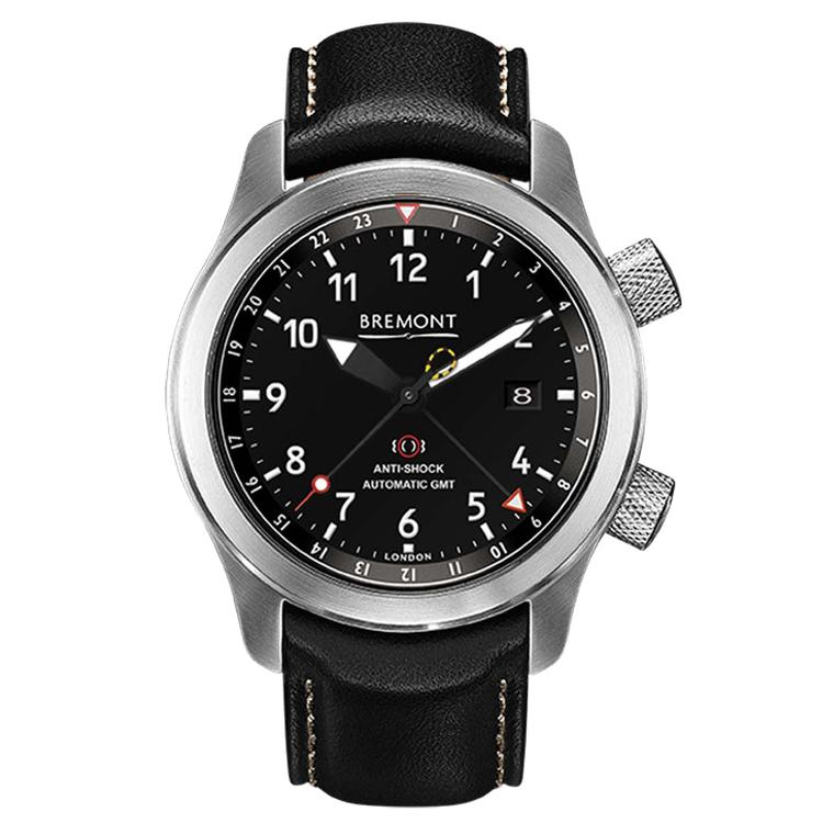 The Bremont MBIII aviation watch is an ultra-rugged pilot's watch and a COSC-certified chronometer. It has a convenient 24-hour GMT hand and protects its Swiss movement in an anti-magnetic Faraday case (£3,945).