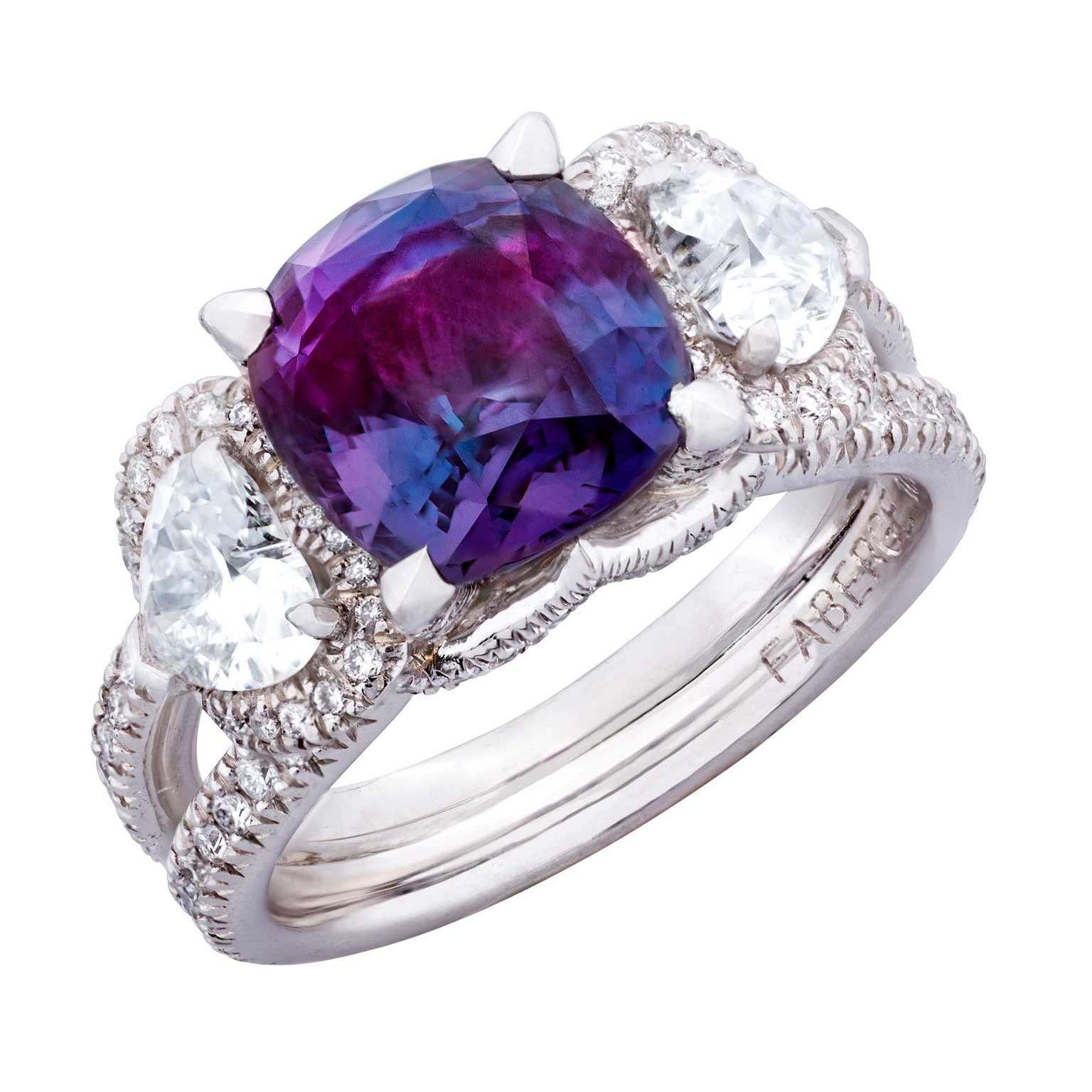 Fabergé Devotion alexandrite ring