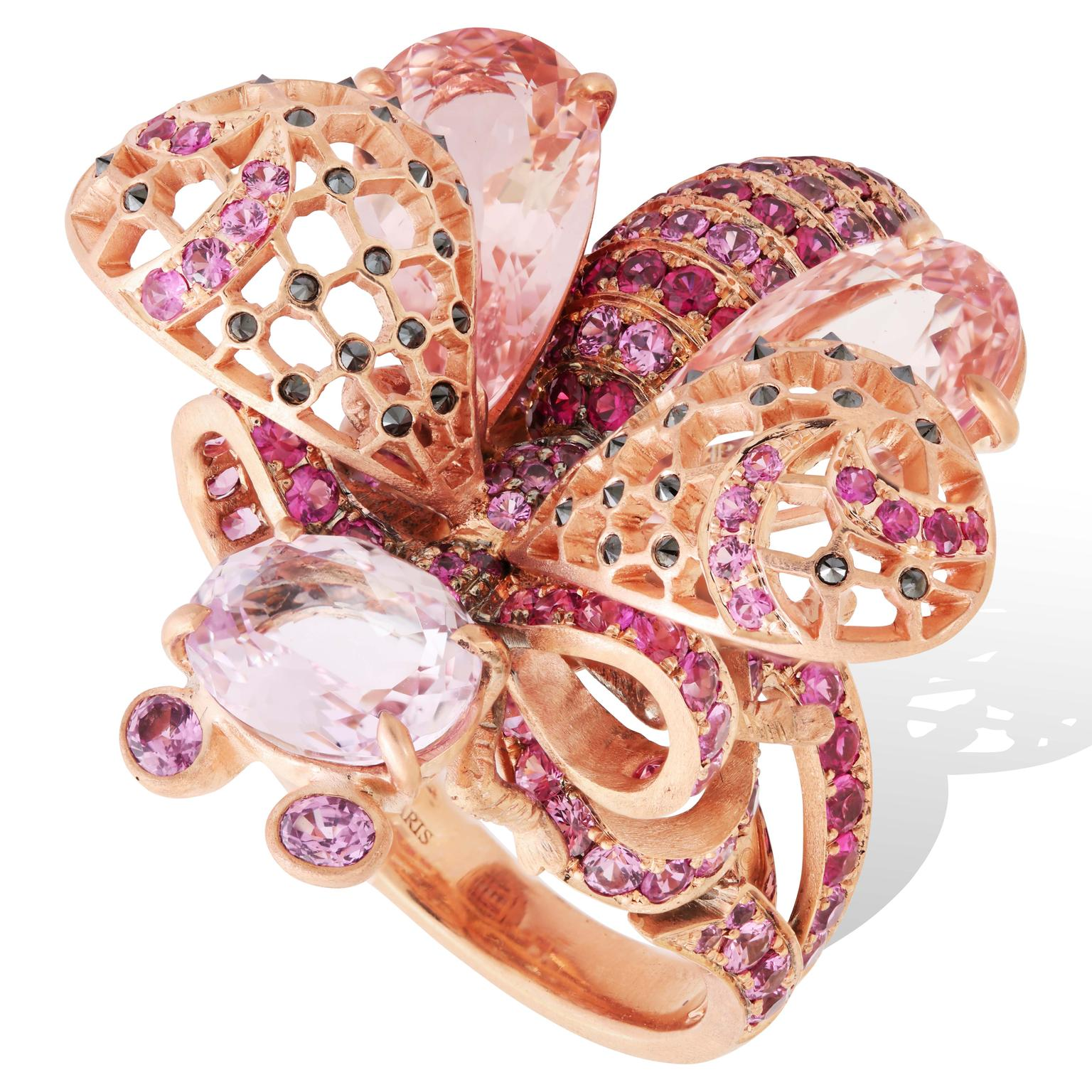 Lydia Courteille La Vie en Rose morganite ring