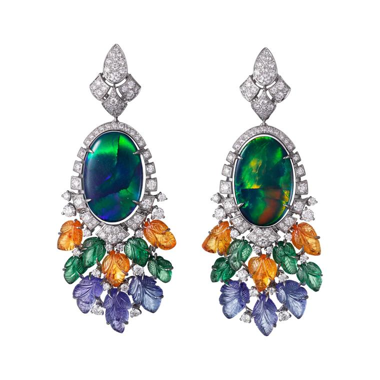 Cartier Étourdissant Pushkar earrings with black opals