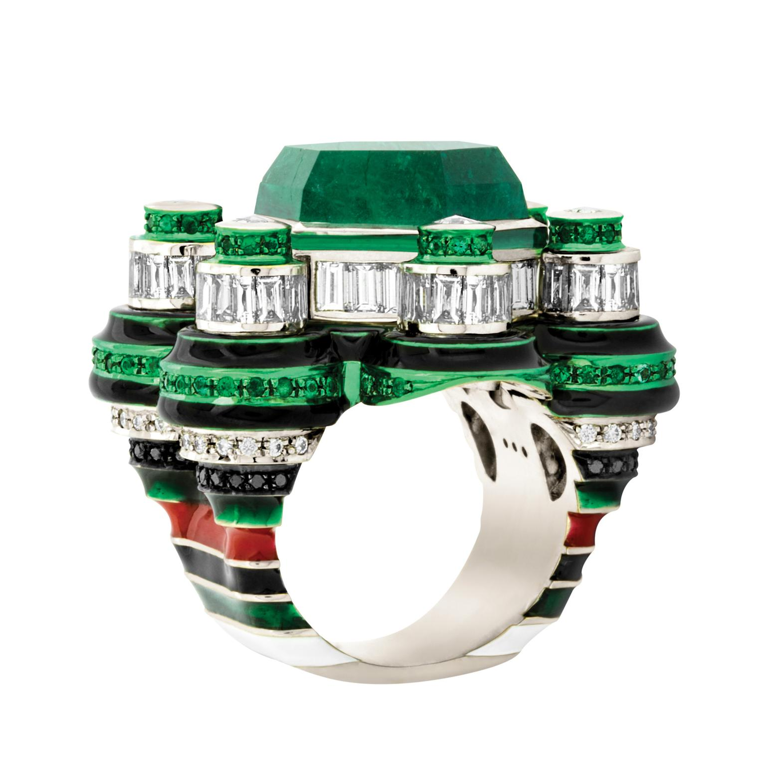 Solange Azagury-Partridge Poptails Space Station cocktail ring