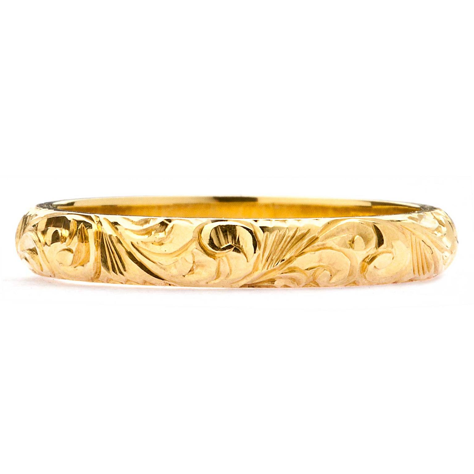 Arabel Lebrusan Scrolls ethical gold wedding ring