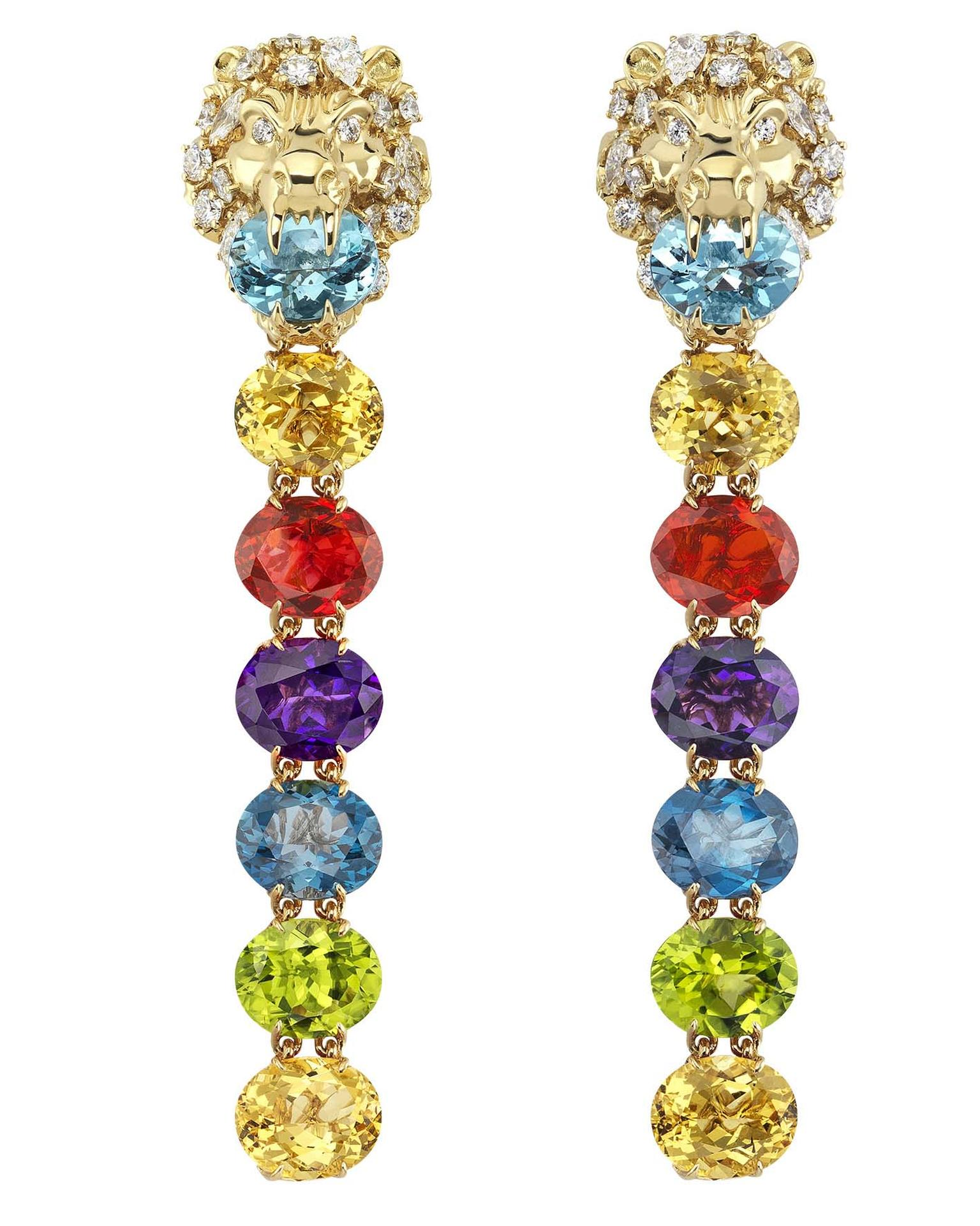 Gucci Hortus Deliciarum Lion Head earrings