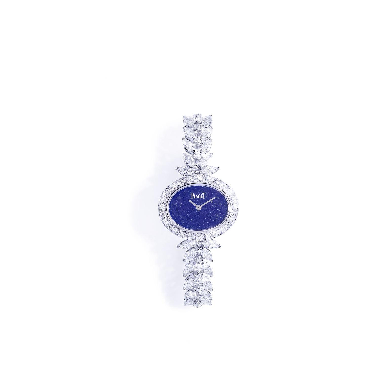 Piaget Sunny Side of life white gold watch with lapis lazuli dial