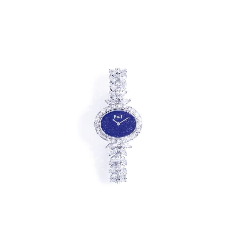 Sunny Side of life white gold watch with lapis lazuli dial