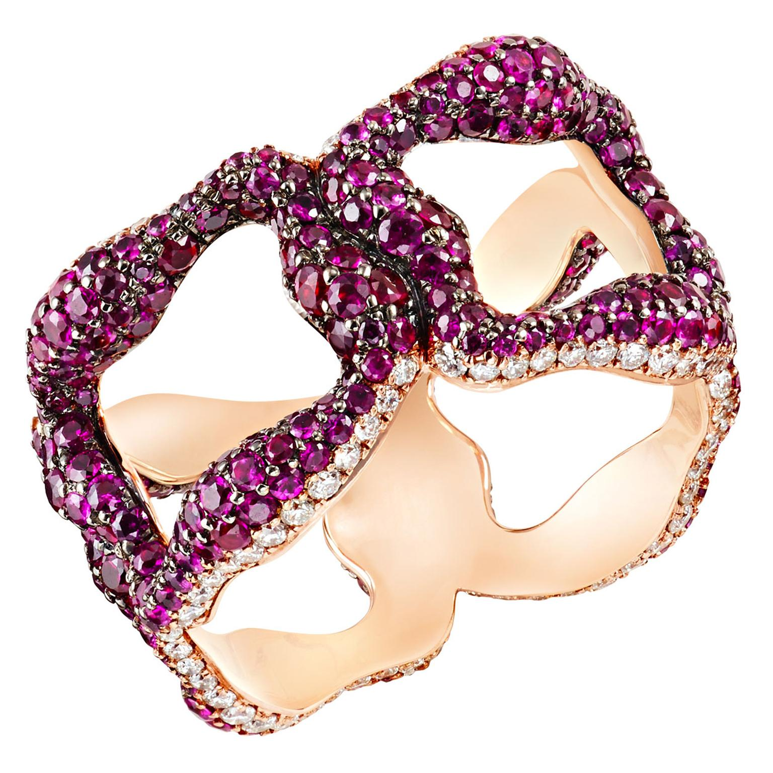 Fabergé Emotion Gypsy ruby ring