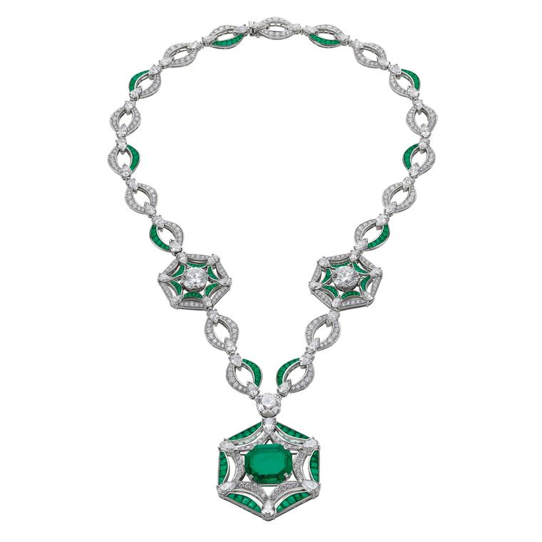 Bulgari Festa Royal Ballroom emerald high jewellery necklace