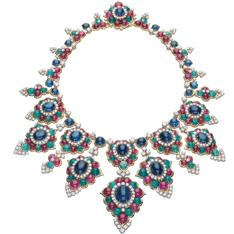 Gemstone necklace from the Bulgari heritage collection, 1967