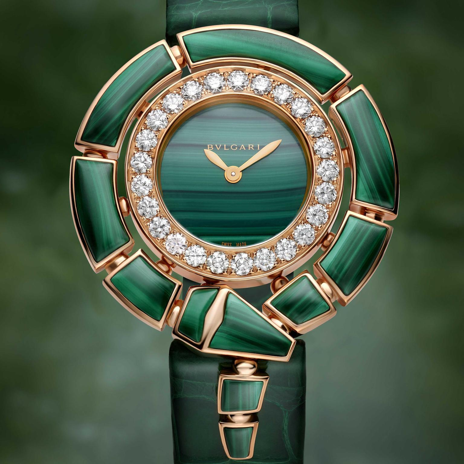 Bulgari Serpenti Incantati malachite wat
